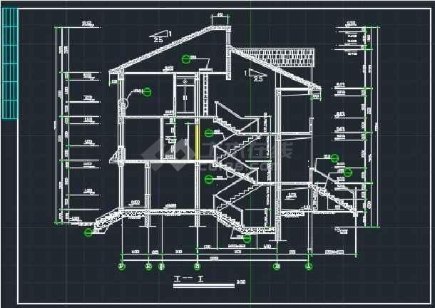 某欧式错层别墅建施CAD设计详情图-图2