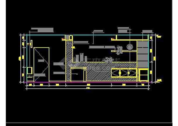 近百套室内图纸装修设计的完整cad测量代号客厅的图纸中施工里图片