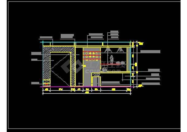 近百套室内电气装修设计的完整cadv电气图纸完整的客厅图纸图片
