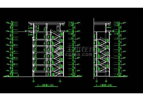 某法院建筑设计方案全套CAD图纸-图1