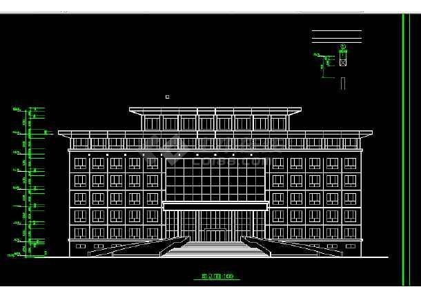某法院建筑设计方案全套CAD图纸-图2