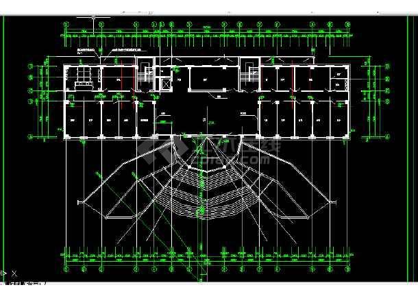 某法院建筑设计方案全套CAD图纸-图3