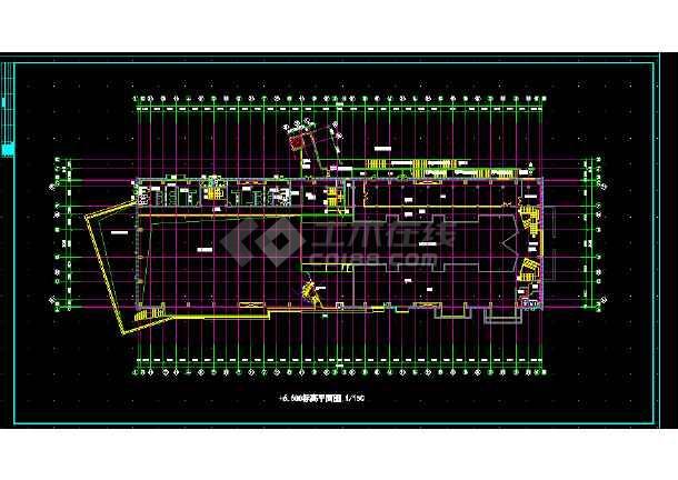 体育会所建筑施工CAD全套设计方案详图-图2