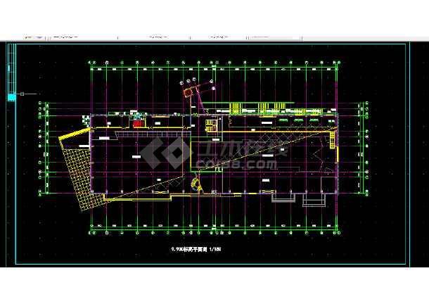 体育娱乐会所建筑施工CAD设计图纸-图2
