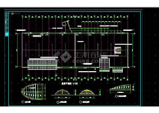 体育娱乐会所建筑施工CAD设计图纸-图3