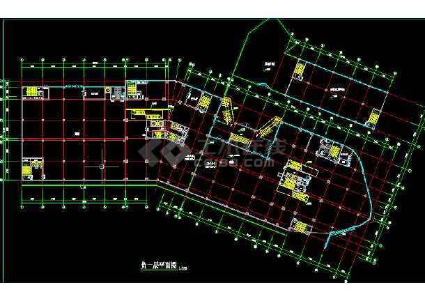 商业写字楼建筑施工CAD全套设计方案详图-图1