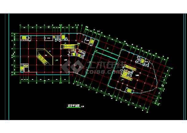 商业写字楼建筑施工CAD全套设计方案详图-图2