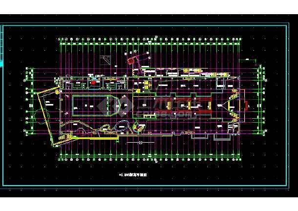 某体育会所建筑施工CAD设计图纸-图1