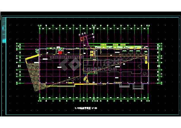 某体育会所建筑施工CAD设计图纸-图2