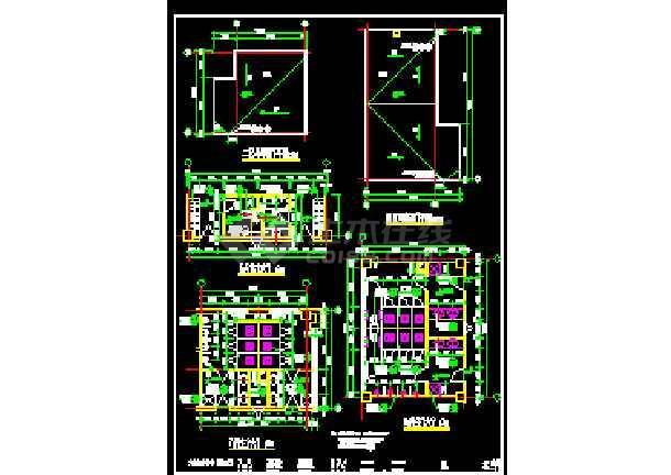 北方某机场综合楼平面装修设计方案的完整 cad施工图-图1