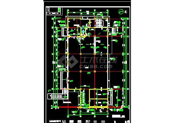 北方某机场综合楼平面装修设计方案的完整 cad施工图-图3