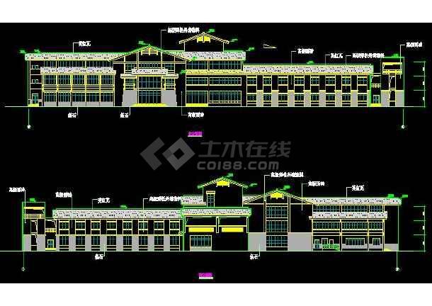 某市温泉度假别墅建筑设计施工图(共11张)-图1