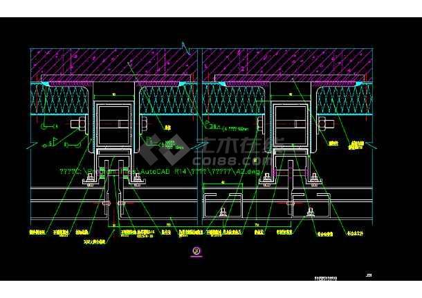 某铝板幕墙变形缝建筑节点设计详图