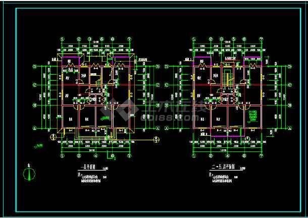 一套简单小型的多层住宅建筑设计图-图1