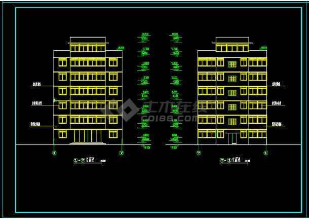 一套简单小型的多层住宅建筑设计图-图2