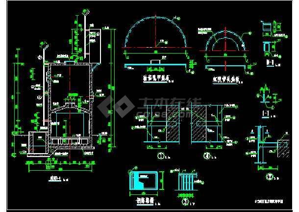 某1000td重力式无阀滤池工艺+结构图-图2