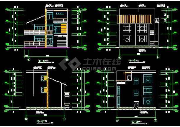 某市小住宅建筑设计施工图(全套)-图1