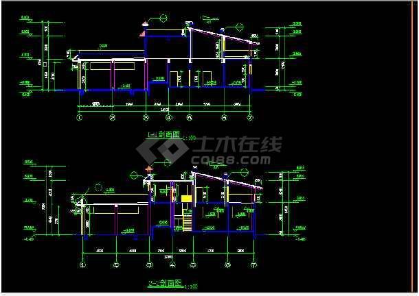 深圳某公厕垃圾站设计全套CAD图纸-图2