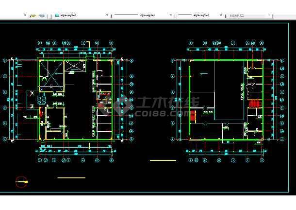 某实验办公楼建筑施工CAD设计图纸-图2