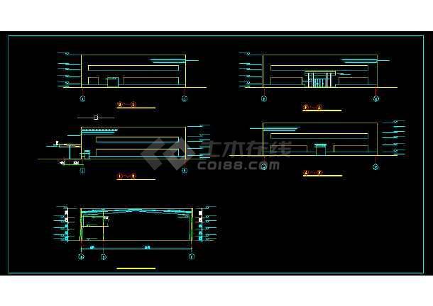 某实验办公楼建筑施工CAD设计图纸-图3