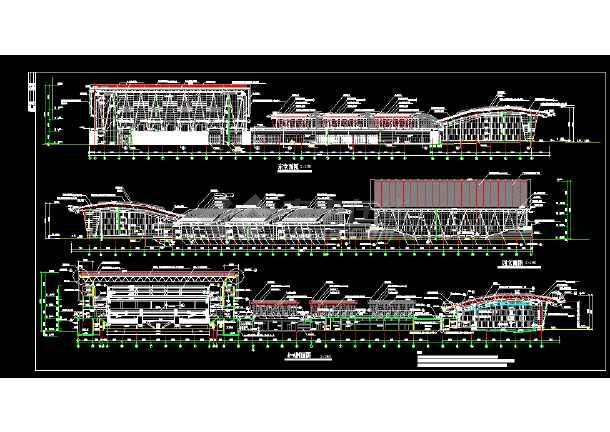 体育活动中心建筑施工CAD设计图纸-图3