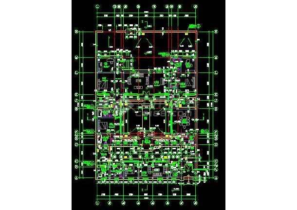 某四合院住宅建筑设计方案图(共4张)-图2