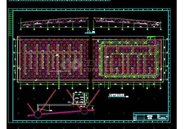 城市体育馆建筑施工CAD设计图纸-图2
