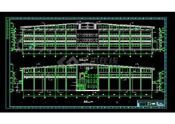 城市体育馆建筑施工CAD设计图纸-图3