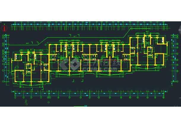 某地区坡地多层住宅建筑建筑设计CAD施工图-图1