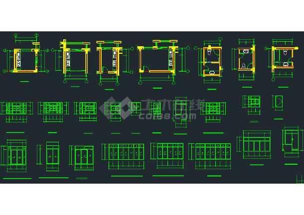 某地区坡地多层住宅建筑建筑设计CAD施工图-图3