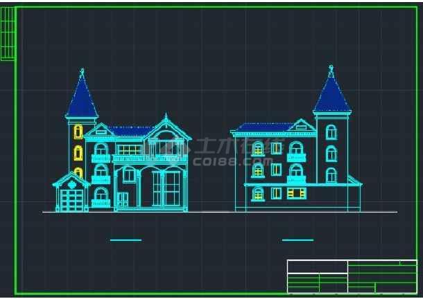 某大型楼盘别墅户型CAD详情图纸-图3