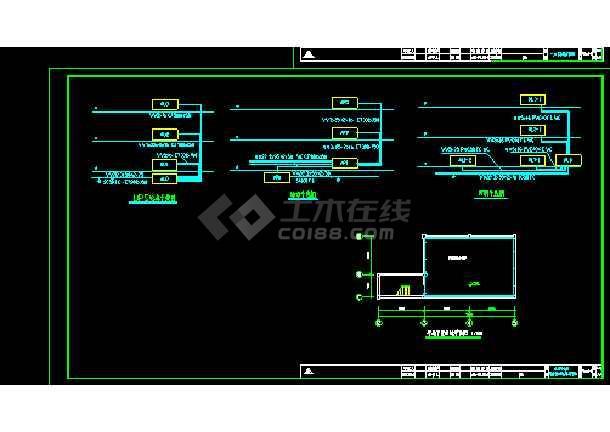 某地大型电台弱电强电电气图纸(标注详细)-图1