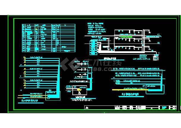 某地大型电台弱电强电电气图纸(标注详细)-图2