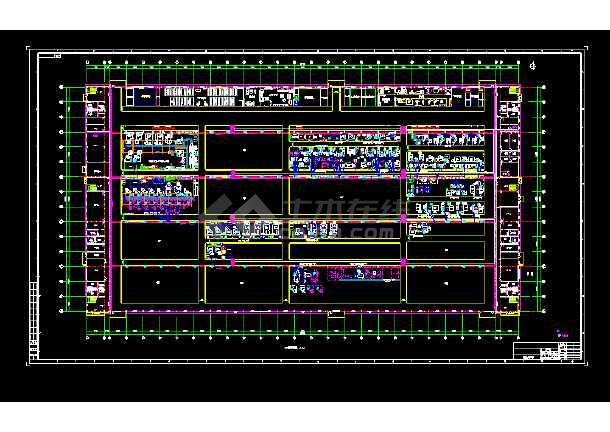 某发动机车间内信息点电气图纸(共1张)-图1