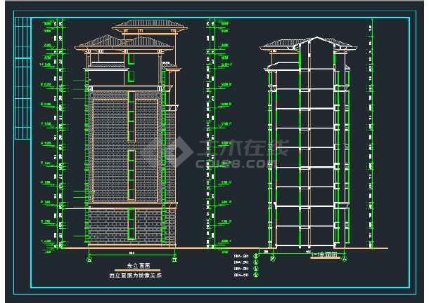 南郡明珠小高层住宅建筑设计CAD施工图-图2