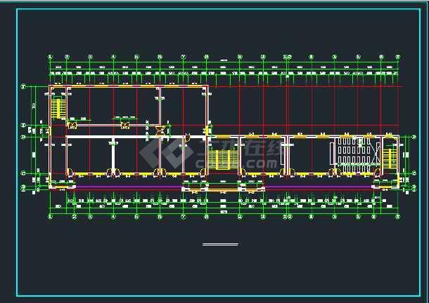 【独家整合】中小学教学楼框架结构设计图(共61套)-图3
