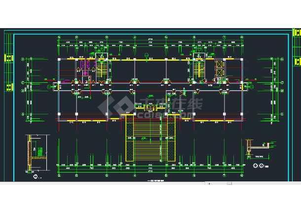 某地区七层行政办公楼建筑设计CAD施工图-图3