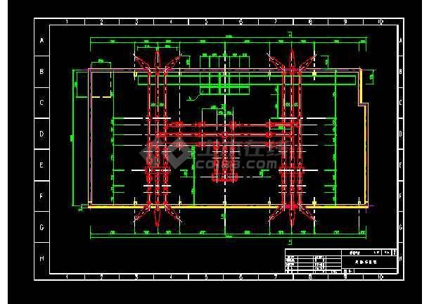 某地密闭变电所电气图纸(共4张)-图1