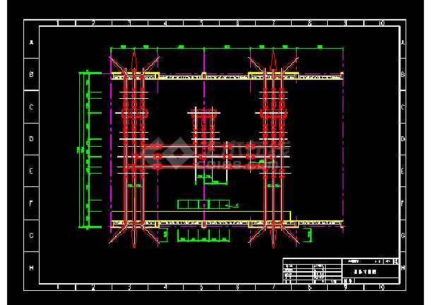 某地密闭变电所电气图纸(共4张)-图2