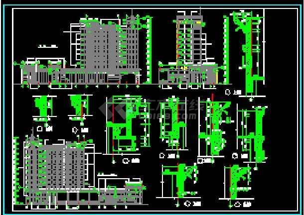 某地传统银行办公大楼建筑图(图纸齐全)-图1