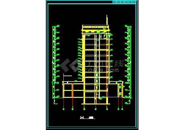 某地传统银行办公大楼建筑图(图纸齐全)-图3