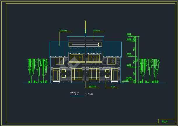 南京城镇拼联式农民公寓楼建筑设计CAD施工图-图1