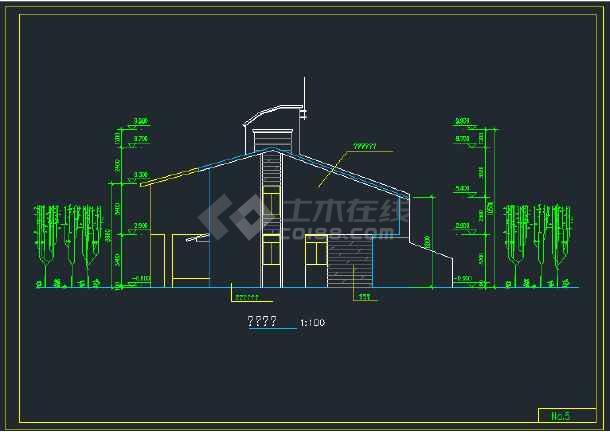 南京城镇拼联式农民公寓楼建筑设计CAD施工图-图2