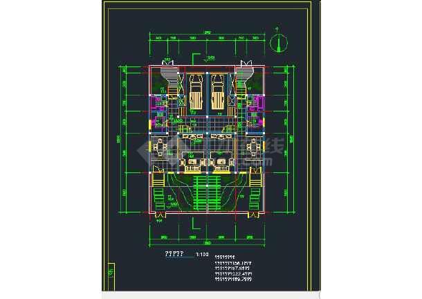 南京城镇拼联式农民公寓楼建筑设计CAD施工图-图3