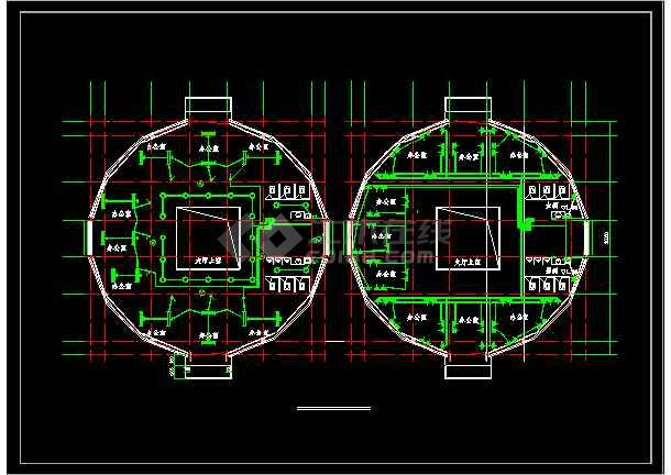 某地三层办公楼电气设计图(含设计说明)-图1