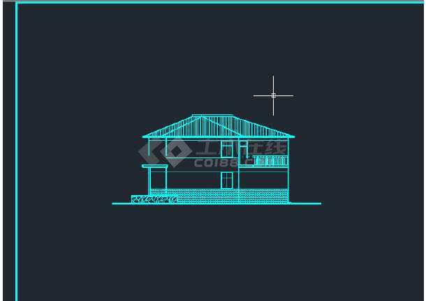 某地区平陆馨夏花园单体建筑设计CAD施工方案图-图2