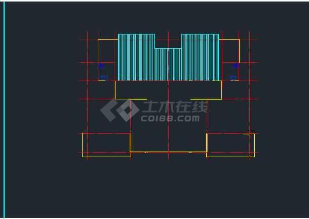 某地区平陆馨夏花园单体建筑设计CAD施工方案图-图3