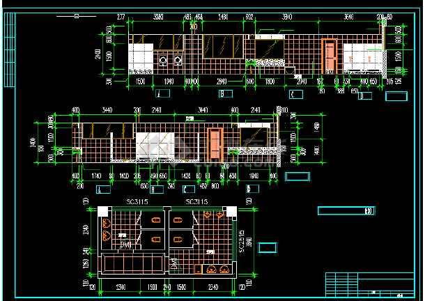 电信大楼建筑施工CAD设计图纸方案-图3