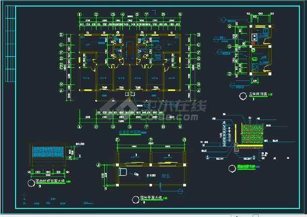 南宁市某地区某小区住宅楼建筑设计CAD施工图-图3