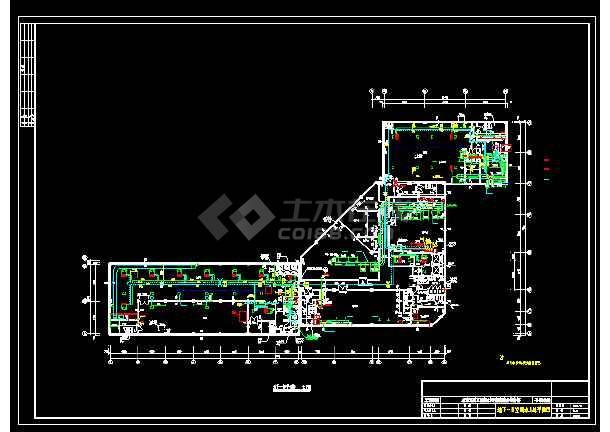 某地质工程设计研究院综合服务楼水系统给排水图-图1